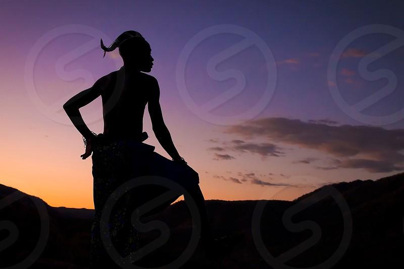 man silhouette photo