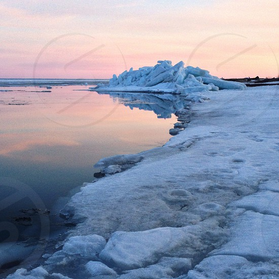 hike along thinning ice - watch your step! photo