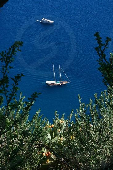 Boats off Capri Island Italy photo