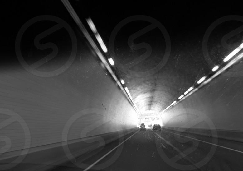 Driving through a tunnel photo