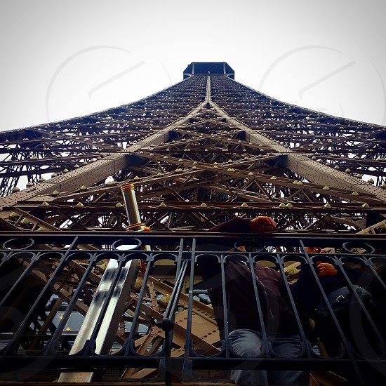 low angle view of an Eiffel Tower photo