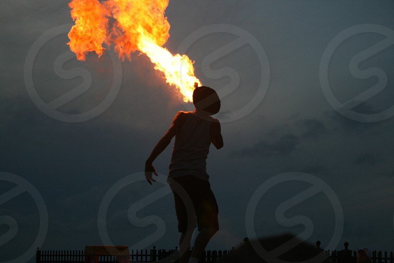 Fire Breather in key west photo