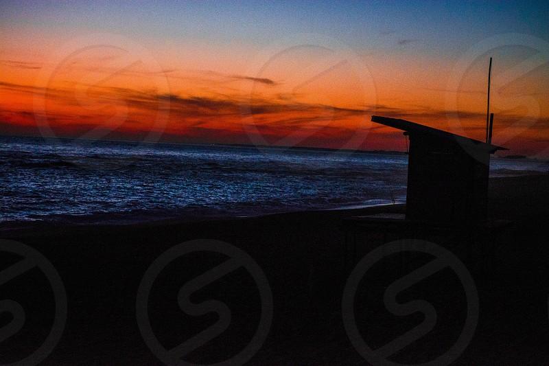Sunset in La Paloma Rocha Uruguay photo
