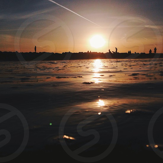 sunrise over lake view photo