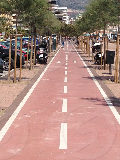 Cycle path in Torremolinos Andalucia Spain photo