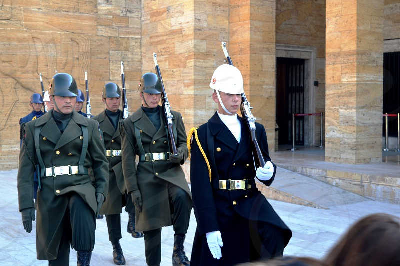 TURKEY. change of guard of honor..  photo