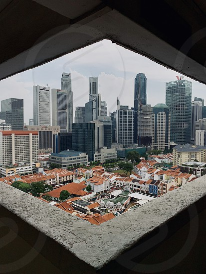 Singapore CBD skyline cityscape skyscrapers Chinatown  photo