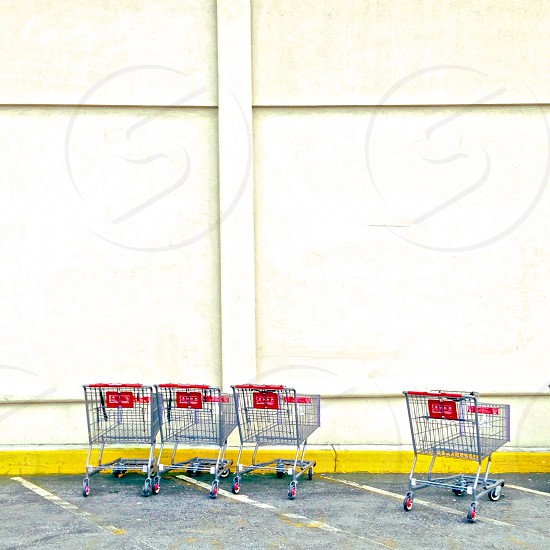stainless steel grocery cart photo