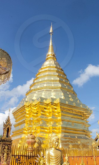 Pagoda from Chiang Mai in Wat Phra That Doi Suthep photo