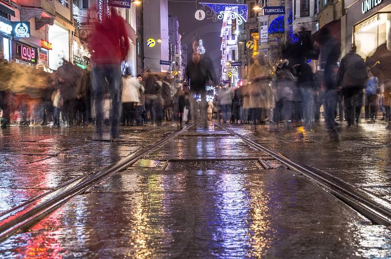 Ground level in Taskim Istanbul photo