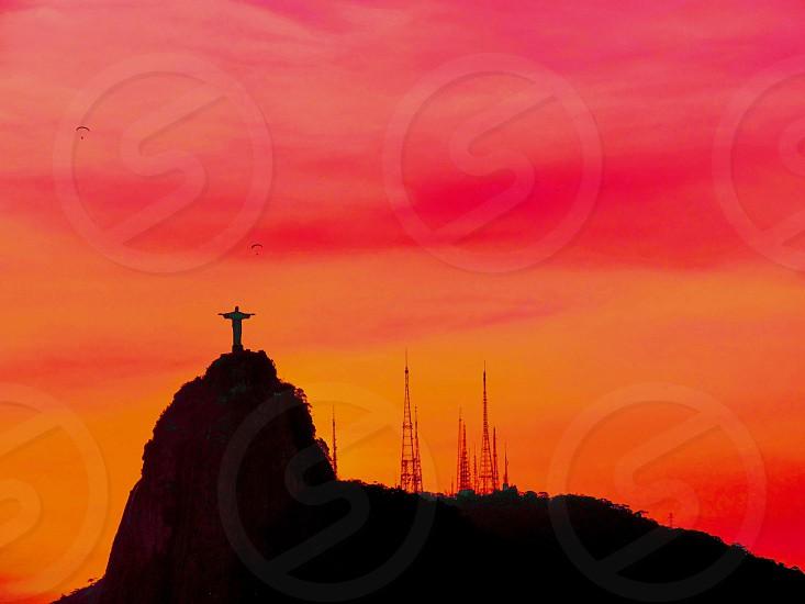 Rio de janeirosunsetarchitecture statuelandscapeCristo Redentor photo