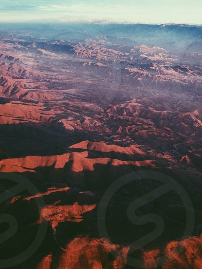 Mountains and shadows. photo