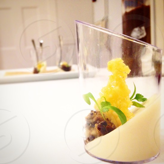 Aged parmigiano panna cotta | truffled duxelle | parm frico photo