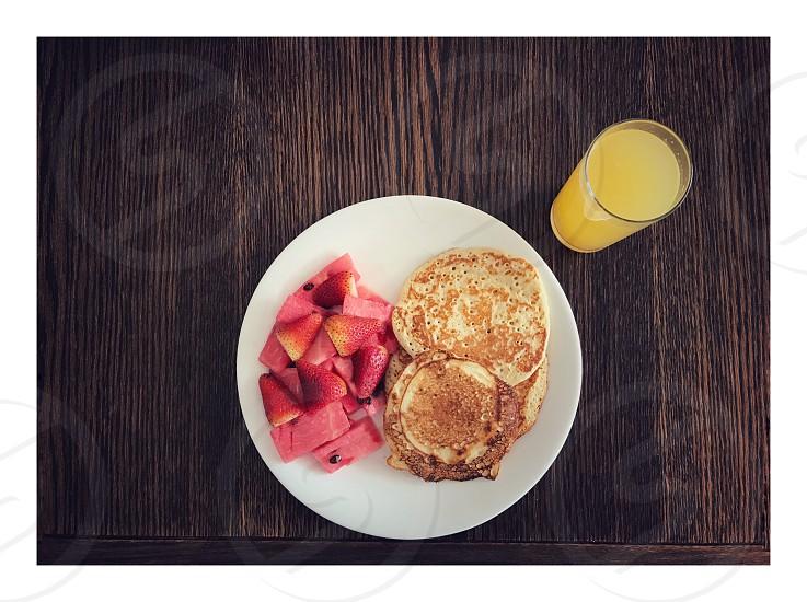 Breakfast Time 🍽🥞🍉🍓🍊 photo