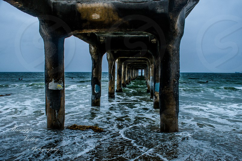 Manhattan pier Los Angeles CA photo
