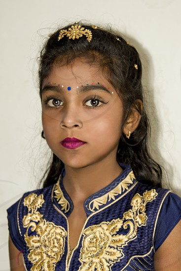 a beautiful girl in velvet photo