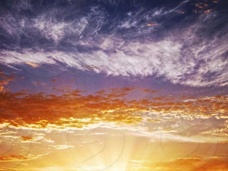 California sunrise in a cloudy sky photo