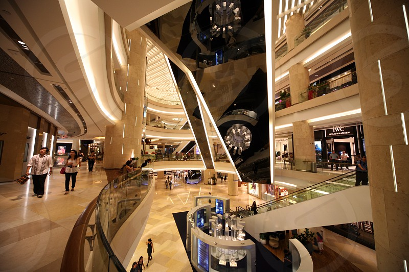 modern architecture and shopping malls at the Orchard Road in the city of Singapore in Southeastasia. photo