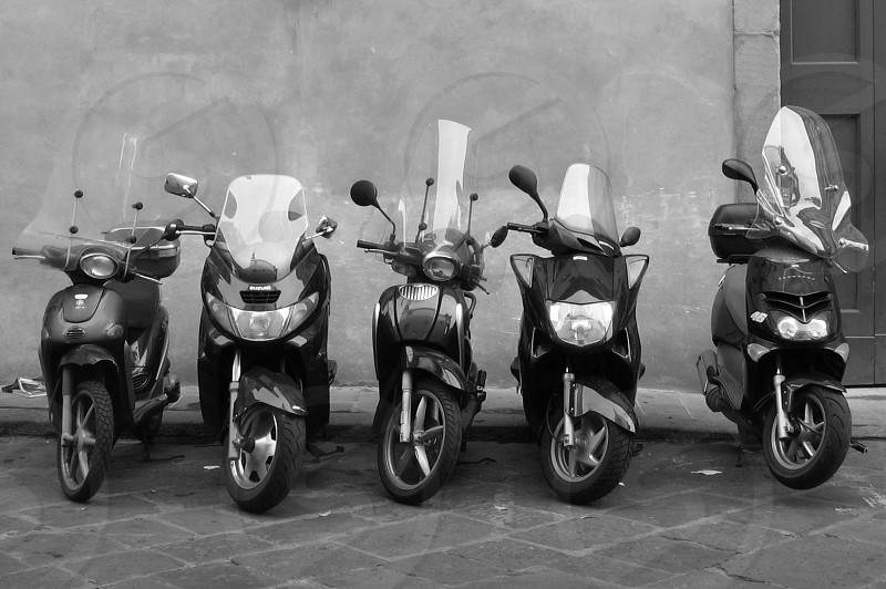 Scooters in Italy photo