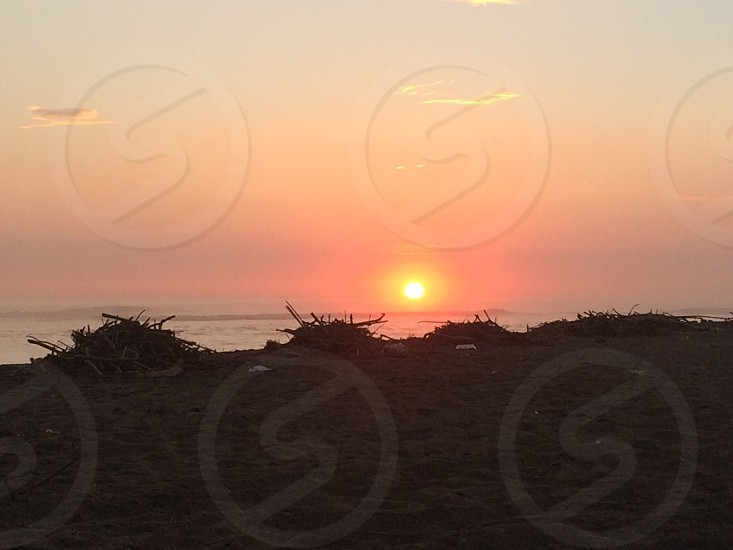 Beach sunset Huanchaco Beach sunset  photo