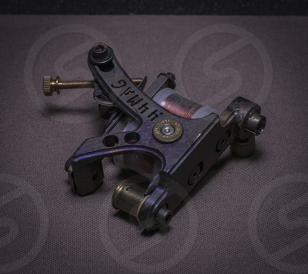 tattoo machine steel in colors metal photo