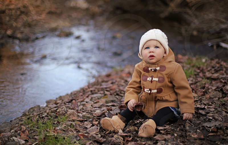 Baby Girl in the Winter photo