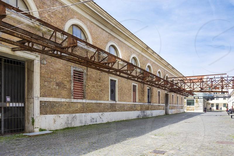 The Museum of Contemporary Art of Rome in a former slaughterhouse in Piazza Orazio Giustiniani in the quartiere of Testaccio photo