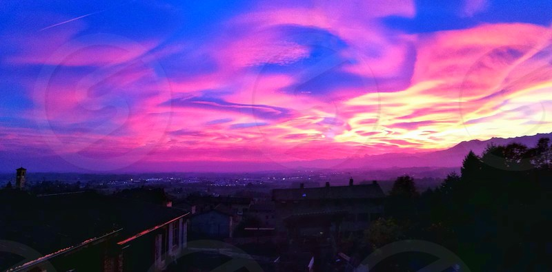 violet sky photo