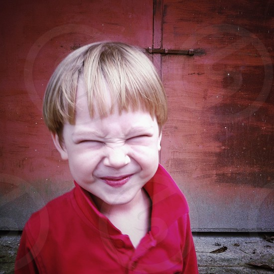 He is my nephew Çagan. I got him with this funny face.  photo