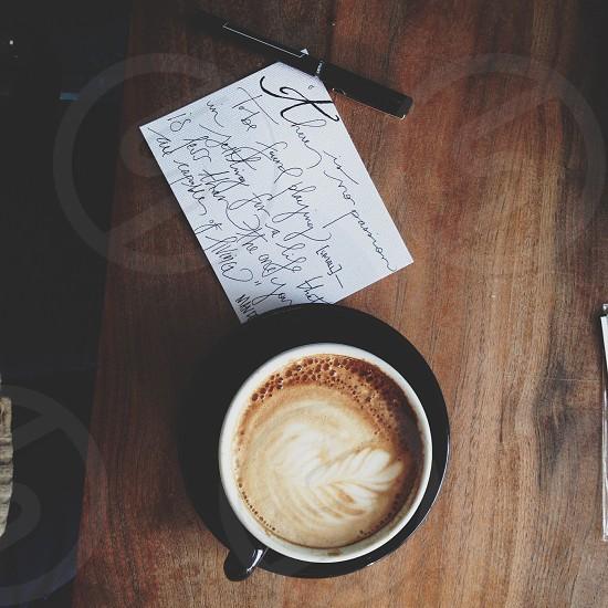 latte on photo