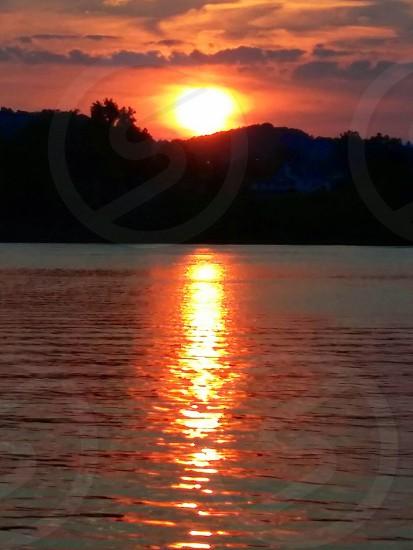 Sunset on the Ohio photo