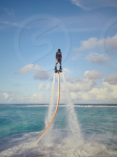 Ocean sea fly board  photo