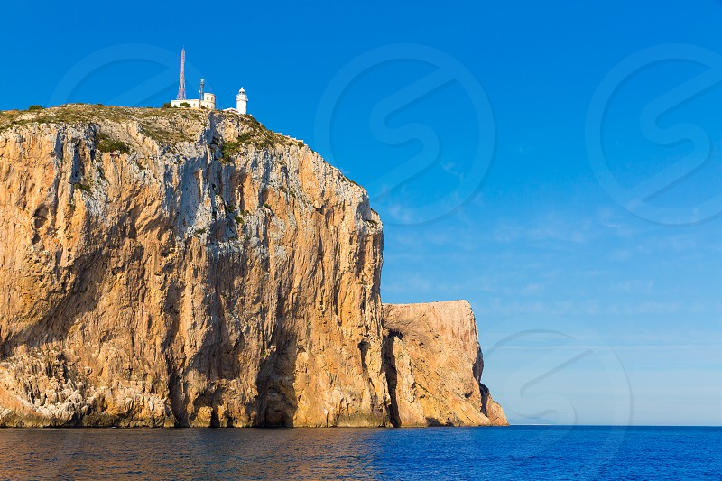 Cabo de San Antonio cape in Javea Denia Mediterranean sea of Spain photo