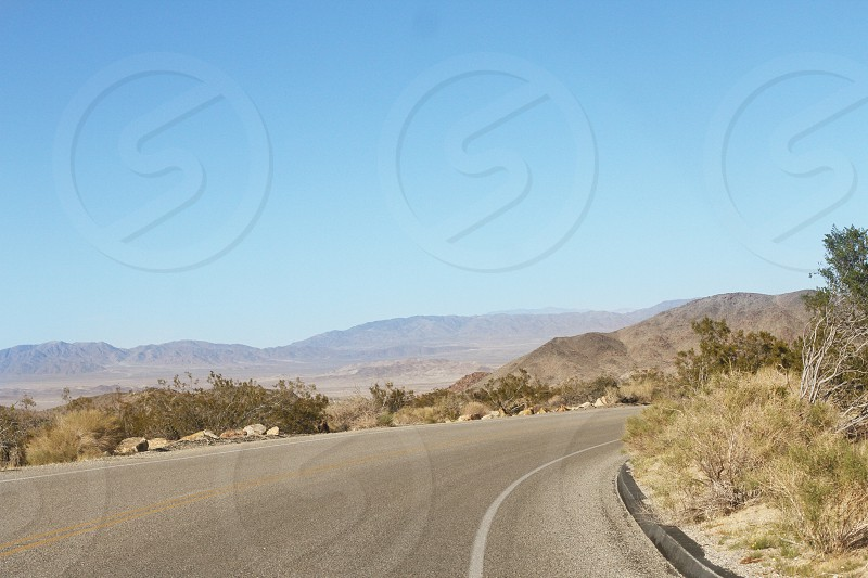 desert mountain highway photo
