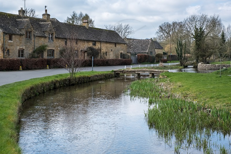 Scenic View of Lower Slaughter Village in the Cotswolds photo