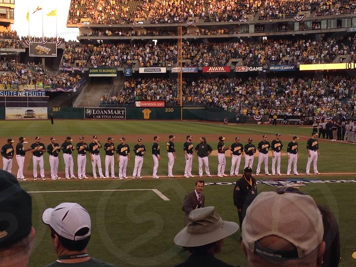 Oakland Athletics National Anthem photo