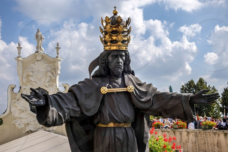 Statue of the Black Christ at Jasna Gora Monastery in Czestochowa Poland photo