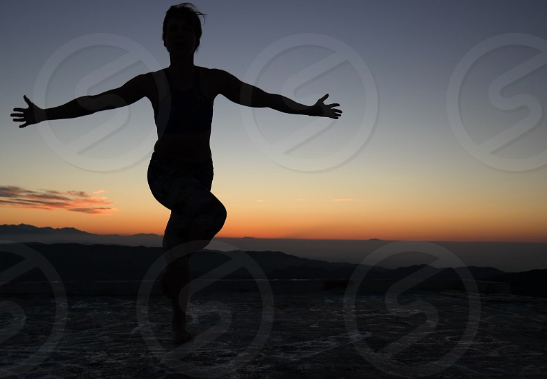 Sunrise sun meditation flows  photo