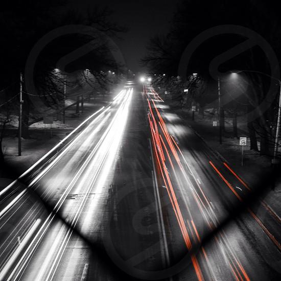 street lights view photo