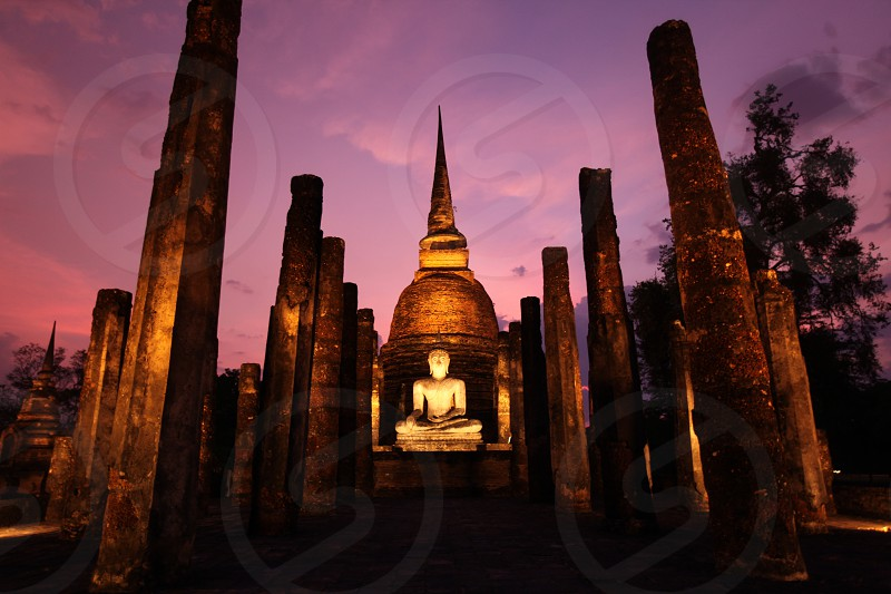the Wat Sa Si Temple at the Si Satchanalai-Chaliang Historical Park in the Provinz Sukhothai in the north of Bangkok in Thailand Southeastasia. photo