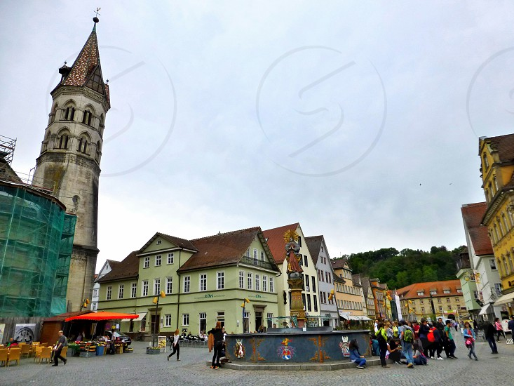 Schwaebish Gmünd 1000 years old city with gothic churches wood framed Hauses. photo
