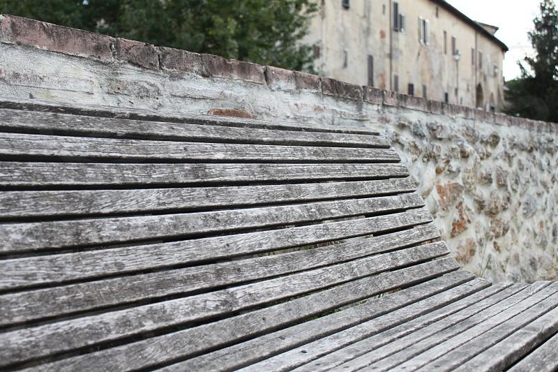 Empty bench photo