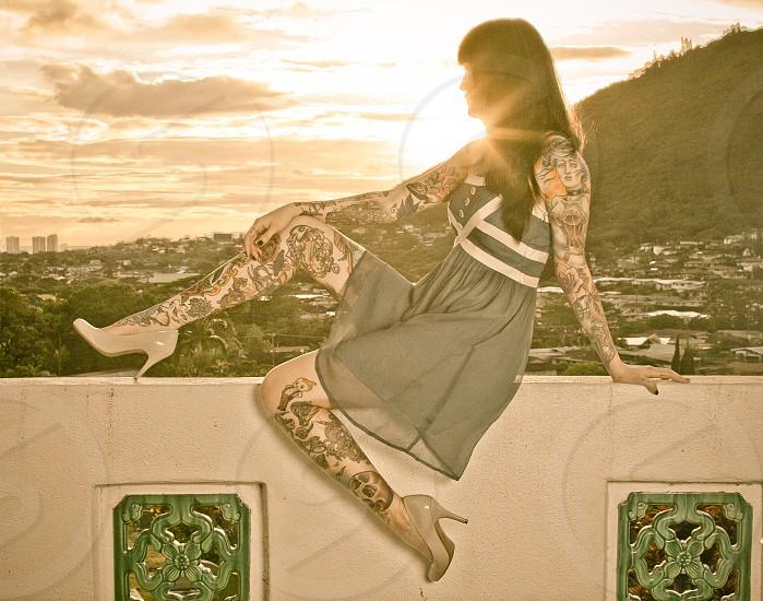 tattooed sunset photo