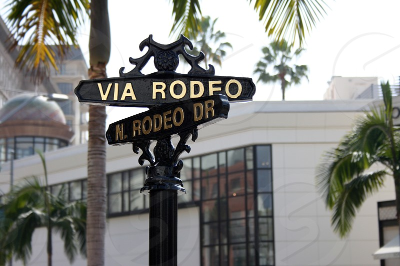Rodeo drive street sign photo