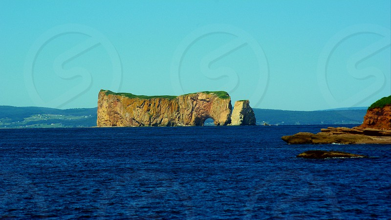 Seascape with the Rocher Percé Qc Canada photo