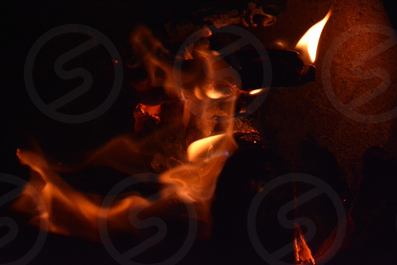 Demon face in flames photo