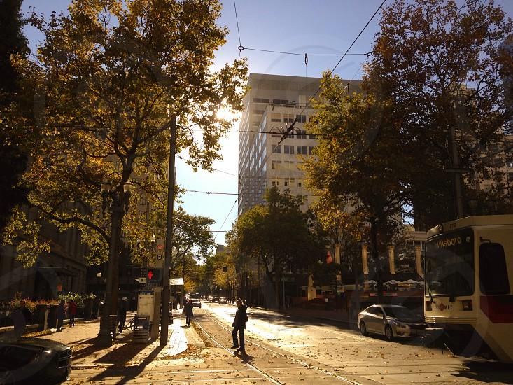 Downtown Portland Oregon-Fall Season  photo