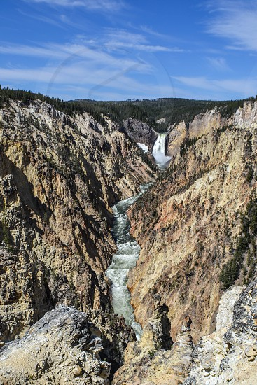 Lower Falls Yellowstone National Park waterfall river gorge photo