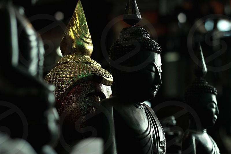 Buddhist statues in Thailand photo