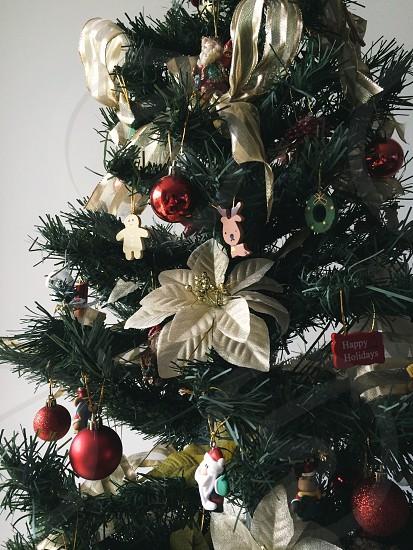 christmas tree with decors photo
